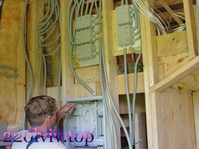 Електрика в каркасних будинках :: Ціни на монтаж